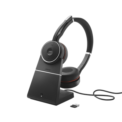 Wireless Office Headset With Noise Cancellation Jabra Evolve 75 Ms Uc